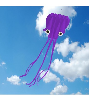 5m Octopus Soft Kite - Purple