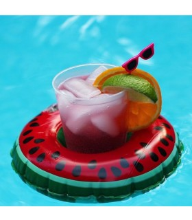 Watermelon drink float