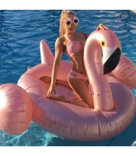 Rose Gold Flamingo Float