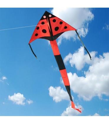 Red Ladybird Delta Kite