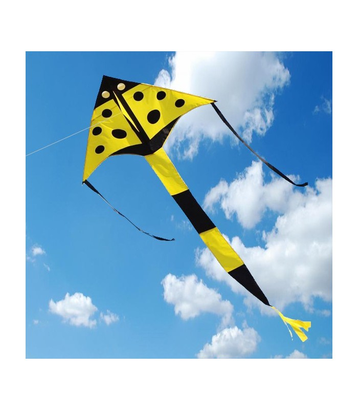 Yellow Ladybird Delta Kite