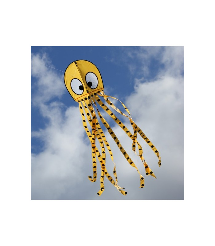 Wavy Octopus Kite - Yellow