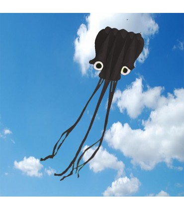 5m Octopus Soft Kite Black