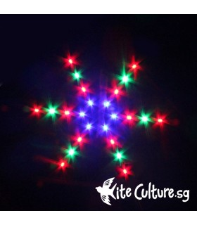 Snowflake LED Night Kite 2.4m 48 Led
