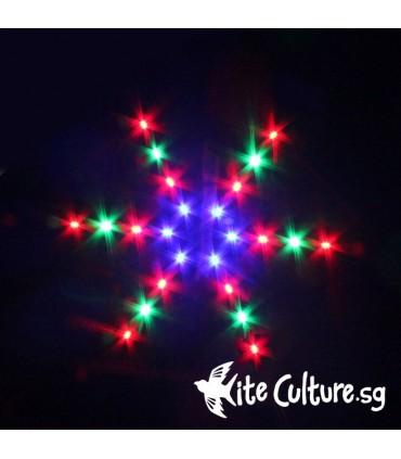 Snowflake LED Night Kite 2.4m 48 Led