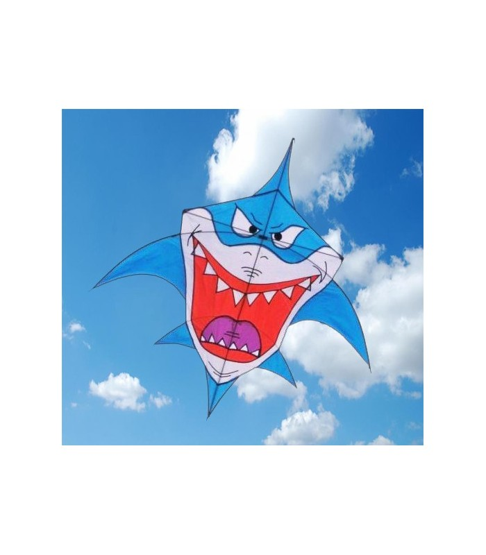 Lucy the Giant Shark Kite- Blue