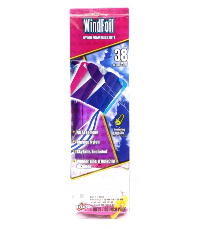 Xkites WindFoil Cool breeze kite packaging