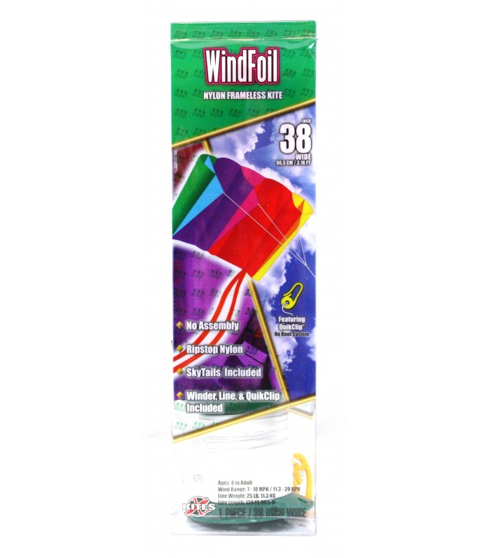 Xkites WindFoil Rainbow Kite Packaging