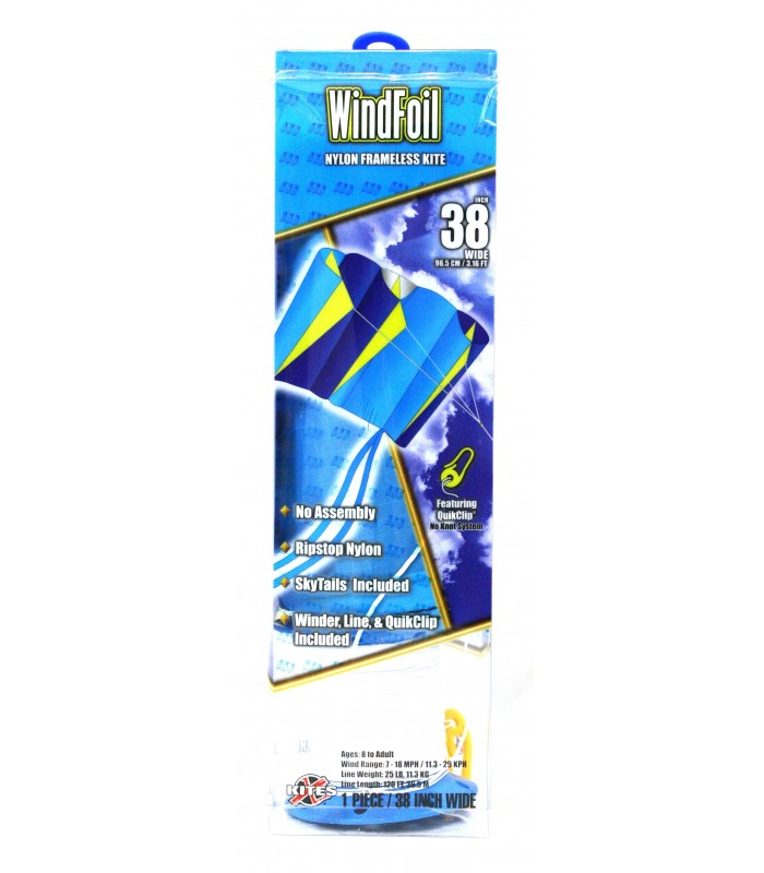 Xkites WindFoil Blue Ice Kite Packaging