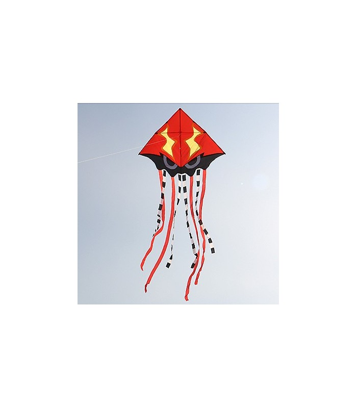 Angry Squid Kite - Red