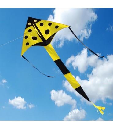 Yellow Ladybird Delta Kite