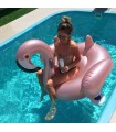 Rose Gold Flamingo Float