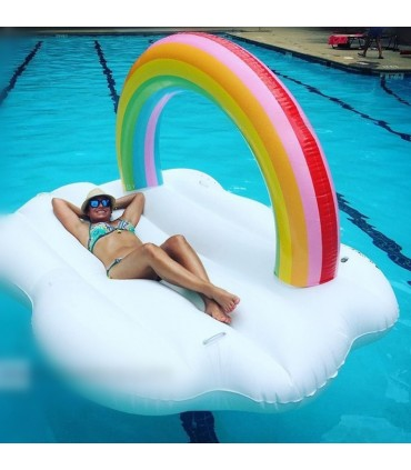 Rainbow Cloud Pool Float (Rental Only)