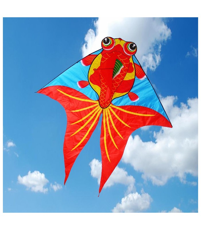 Red Gold Fish Kite
