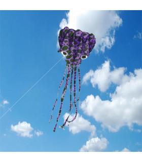 5m Camo Soft Octopus Kite Purple