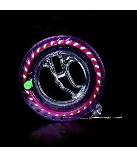 18cm Reel Crystal Purple with 300m 60lbs Waxed line
